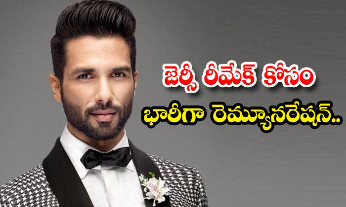 TeluguStop.com - Shahid Kapoor Gets Biggest Paycheck For Jersey Remake