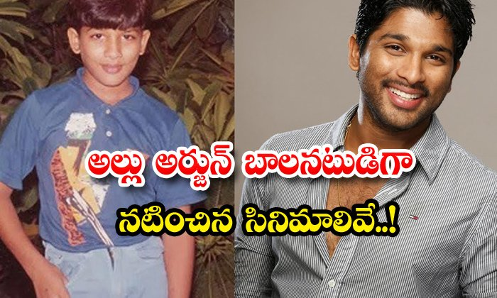 Allu Arjun Acted Child Artist In Swathi Mutyam Movie