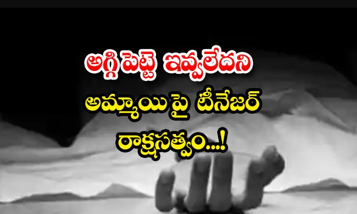 TeluguStop.com - Teenager Shoots Woman For Denying Matchbox Tamil Nadu