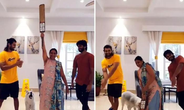 TeluguStop.com - Vijay Deverakonda Wishes Mom With A Cute Video On Her 50th Birthday-Latest News English-Telugu Tollywood Photo Image