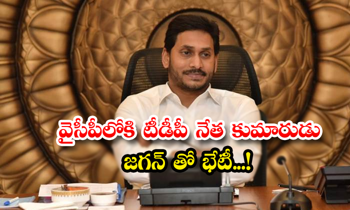 TeluguStop.com - Tdp Leader Son Likely To Join In Ysrcpmet Jagan Mohan Reddy