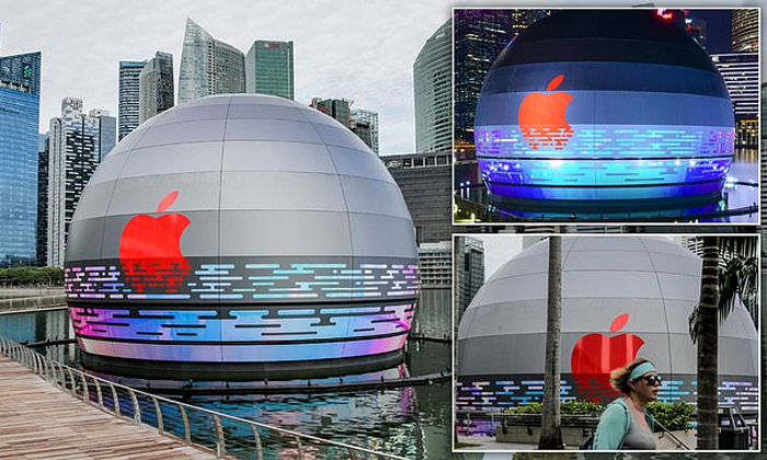 TeluguStop.com - Apple Opens First Floating Retail Store At Marina Bay In Singapore.