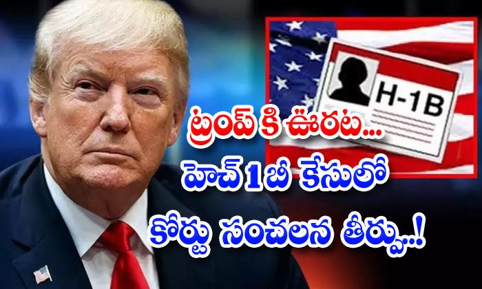 TeluguStop.com - Us Judge Denies Preliminary Injunction On H 1b Visa Ban