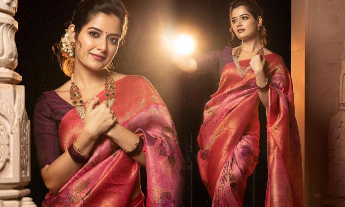 Alluring Photos Of Ashika Ranganath Prove That She Is A True Actress At Saree-telugu Actress Hot Photos Alluring Photos High Resolution Photo