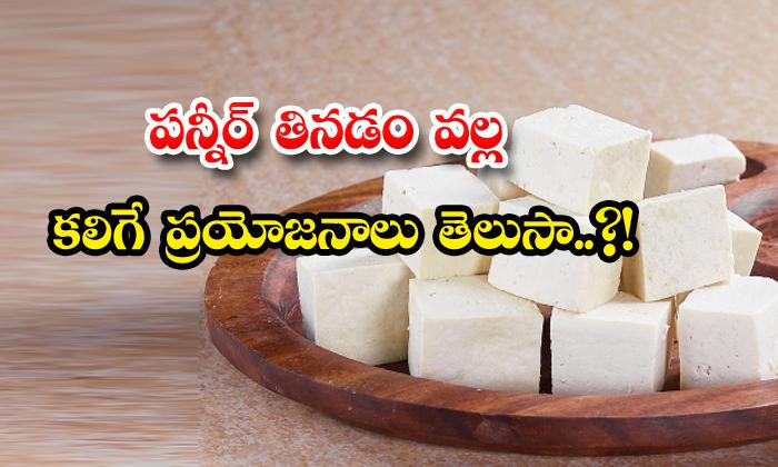 TeluguStop.com - Health Benefits Of Eating Paneer
