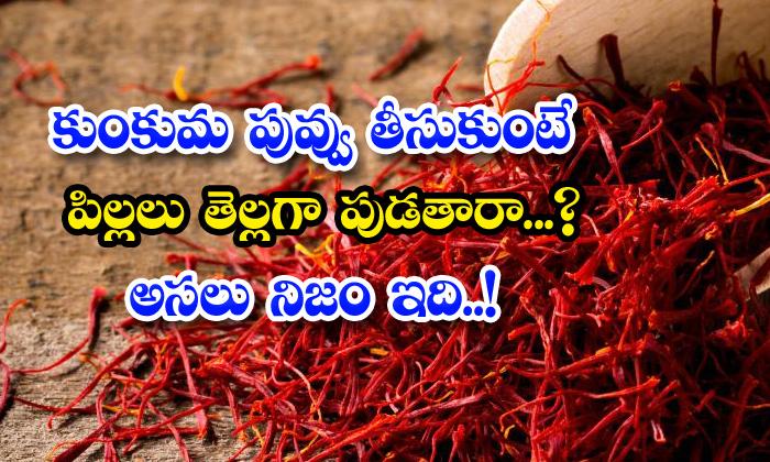 TeluguStop.com - Will Children Be Born White If They Take Saffron Flower