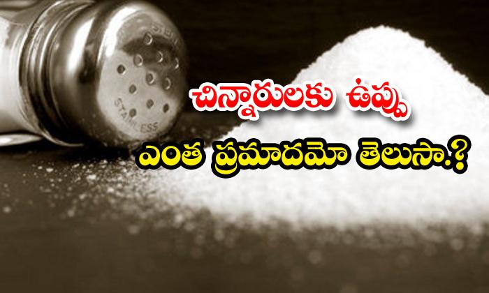 TeluguStop.com - Excessive Salt Dangerous Children Health