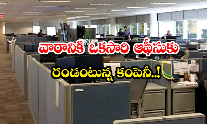 TeluguStop.com - Hcl Company Chro Apparao Employees Once In A Week Office
