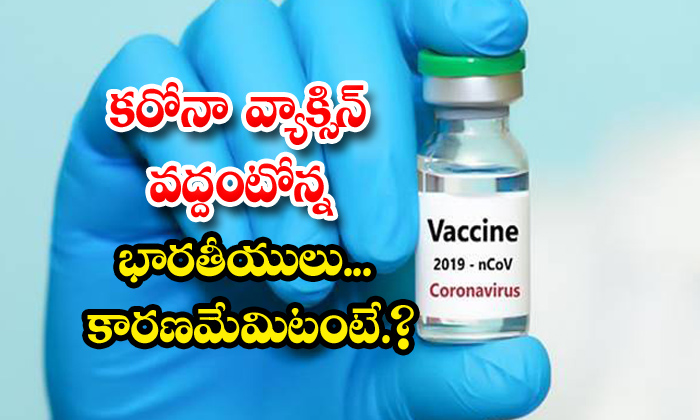 TeluguStop.com - 61 Percent Indian People Reject Corona Vaccine