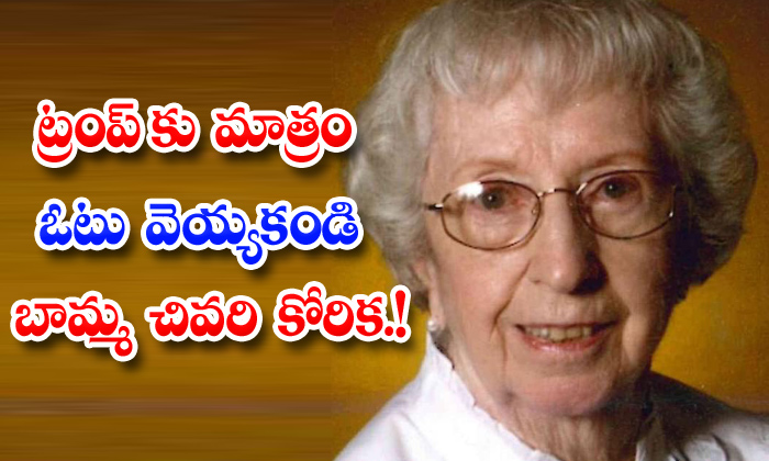 TeluguStop.com - Dont Vote For Trump 92 Year Old Grandmothers Last Wish