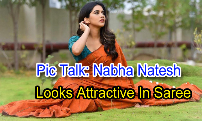 TeluguStop.com - Pic Talk: Nabha Natesh Looks Attractive In Saree