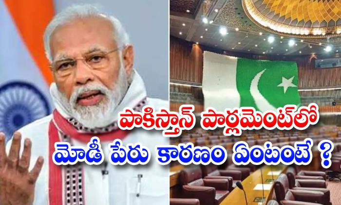 TeluguStop.com - Modi Name In Pakistan Parliament