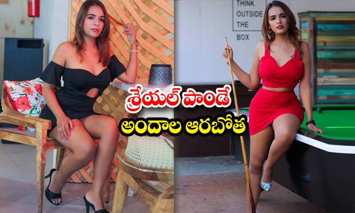 Romantic beauty shreyal pandey hot poses-శ్రేయల్ పాండే అందాల ఆరబోత