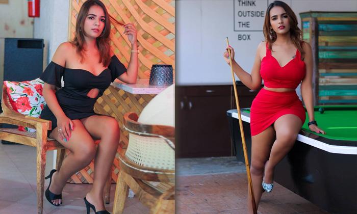 Romantic Beauty Shreyal Pandey Hot Poses-telugu Actress Hot Spicy Photos Romantic Beauty Shreyal Pandey Hot Poses - Telu High Resolution Photo