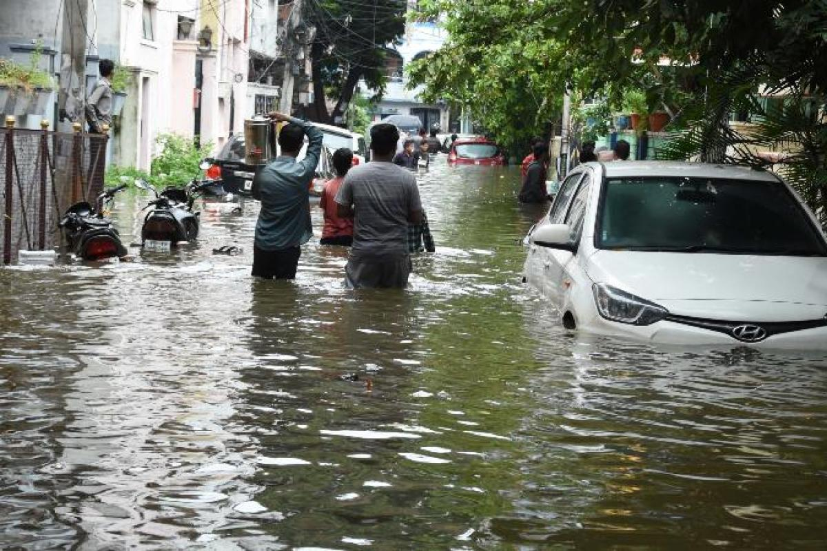TeluguStop.com - Severe Rains In Hyderabad For Four More Days