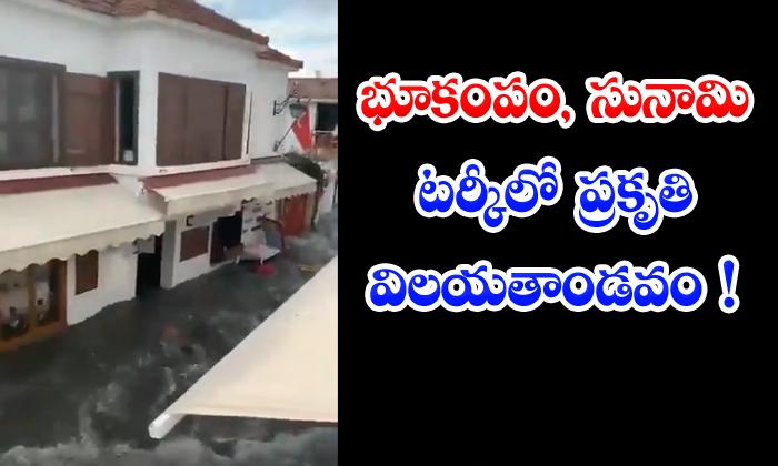 TeluguStop.com - Earthquake Tsunami Natural Disasters In Turkey