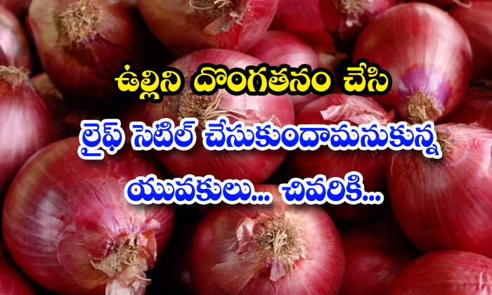 TeluguStop.com - Youth Tried To Steal Onions For Money