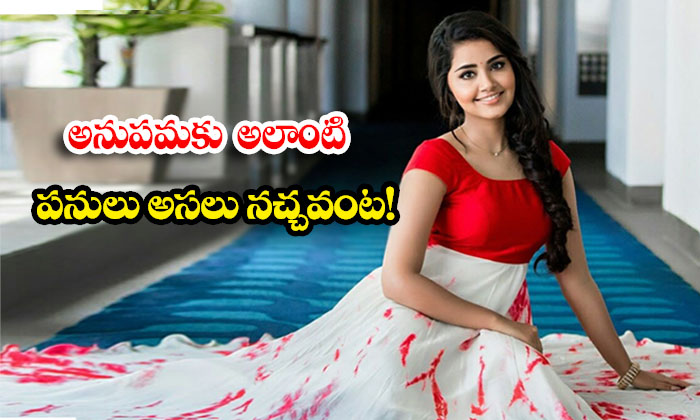 TeluguStop.com - Actress Anupama Parameshwaran Does Not Like Such Things At All
