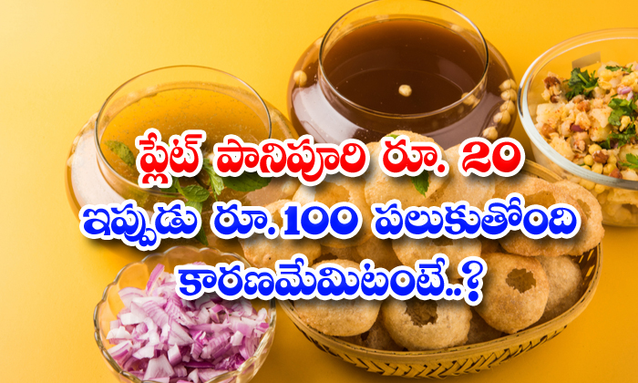 TeluguStop.com - Plate Panipuri Rs 20 Is Now Rs 100 Is Saying The Reason Is