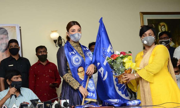 TeluguStop.com - Payal Ghosh Joins Ramdas Athawale's Republican Party Of India.