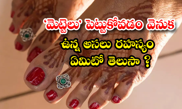 TeluguStop.com - Do You Know Why Women Wear Silver Ring After Marriage