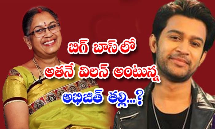 TeluguStop.com - Abhijeet Mother Akhil Villain Bigg Boss House