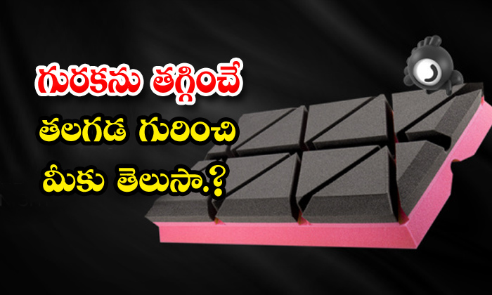 TeluguStop.com - Anti Snore Matrix Pillow Stops Snoring