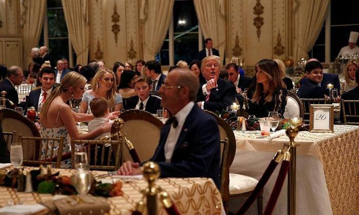 Telugu Donald Trump, Donald Trump Celebrates Thanksgiving Day In White House, Donlad Trump, George W. Bush, Jarg W Bush, Pardons Turkey Hen, Thanksgiving Day, Turkey Hen, White House-Latest News - Telugu