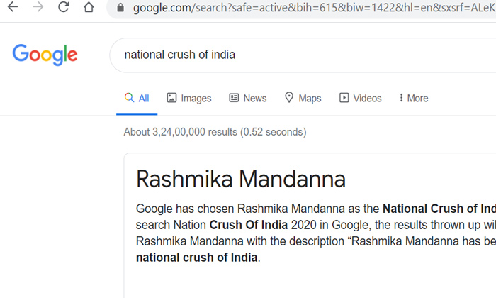 Telugu Google, National Crush Of India, Rashmika, Rashmika Is National Crush Of India This Year, Rashmika Mandanna, South Cinema, South Heroines, Telugu Cinema, Tollywood-Movie
