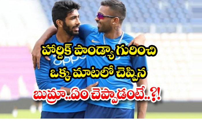 TeluguStop.com - Bamra Said In One Word About Hardik Pandya What To Say