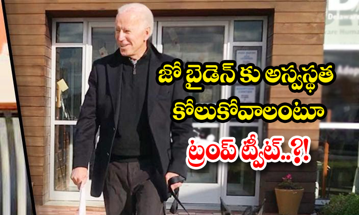 TeluguStop.com - Joe Biden Fractures Foot While Playing With Dog To Wear A Boot