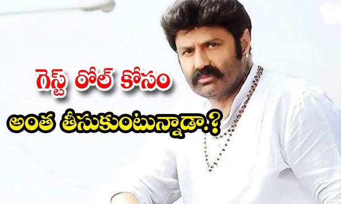 TeluguStop.com - Balakrishna Demands Crores Of Rupees For Guest Role