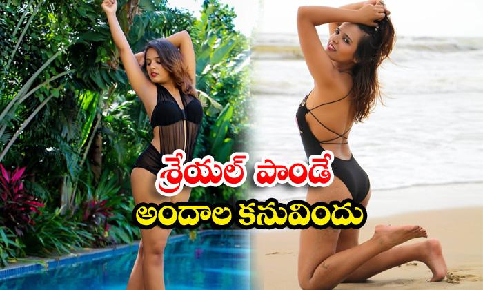 Professional model and actress shreyal pandey romantic poses-శ్రేయల్ పాండే అందాల కనువిందు