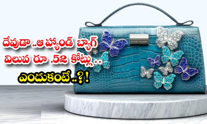 TeluguStop.com - That Handbag Is Worth Rs 52 Crore Because
