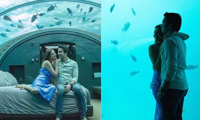 TeluguStop.com - Kajal Aggarwal Shares Underwater Sea Pictures With Husband Gautam Kitchlu.
