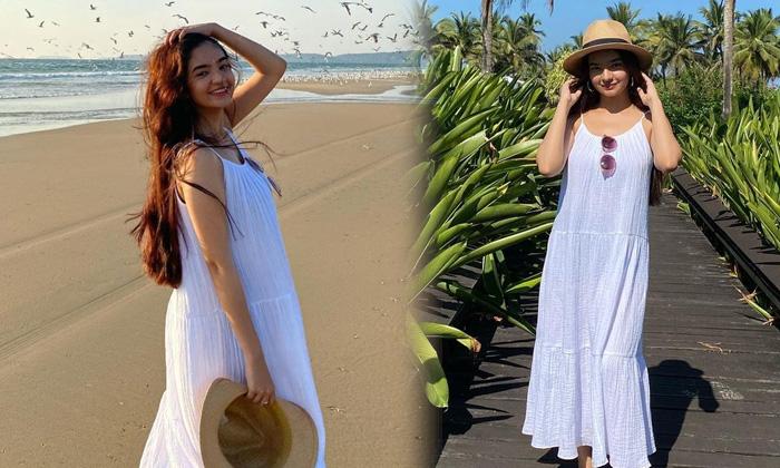 Sizzling Images Of Anushka Sen Enjoy In Beach-telugu Actress Hot Photos Sizzling Images Of Anushka Sen Enjoy In Beach - High Resolution Photo