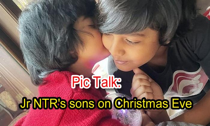 TeluguStop.com - Pic Talk: Jr Ntr's Sons On Christmas Eve