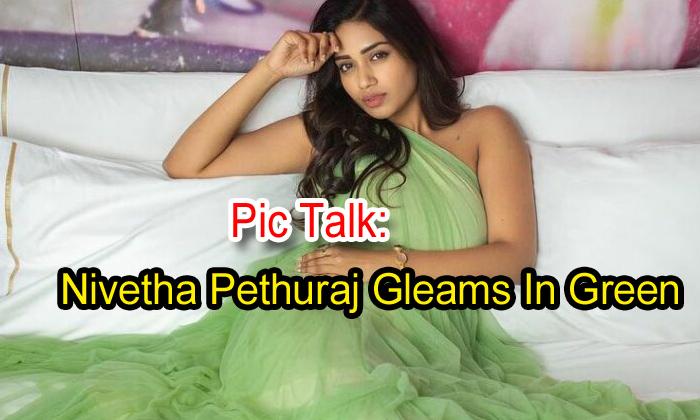 TeluguStop.com - Pic Talk: Nivetha Pethuraj Gleams In Green