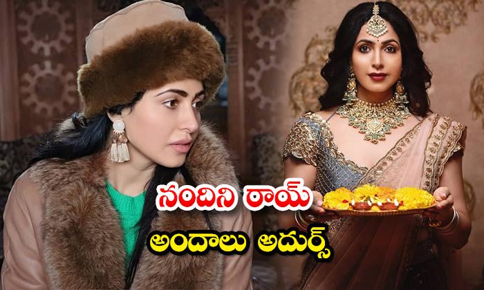 Tollywood Actress Nandini Rai traditional attire and glamorous images-నందిని రాయ్ అందాలు అదుర్స్