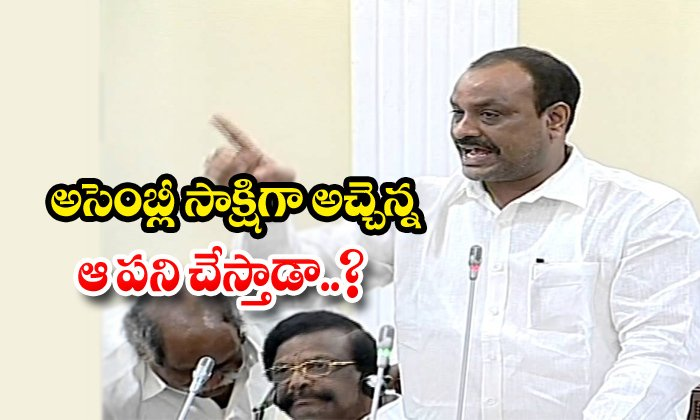 TeluguStop.com - Is Atchennanidu Doing That Work In Assembly