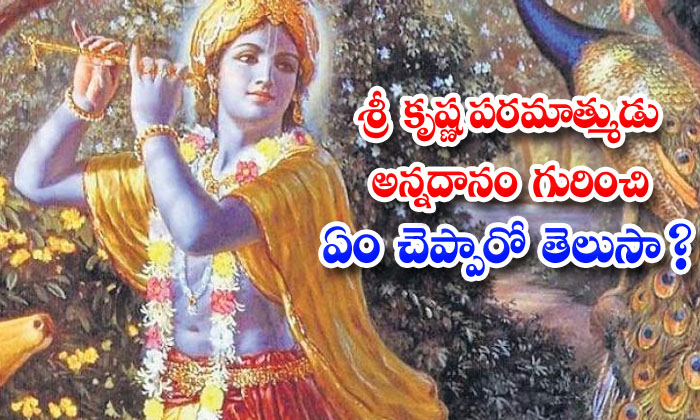 TeluguStop.com - Do You Know What Lord Krishna Said About Annadanam