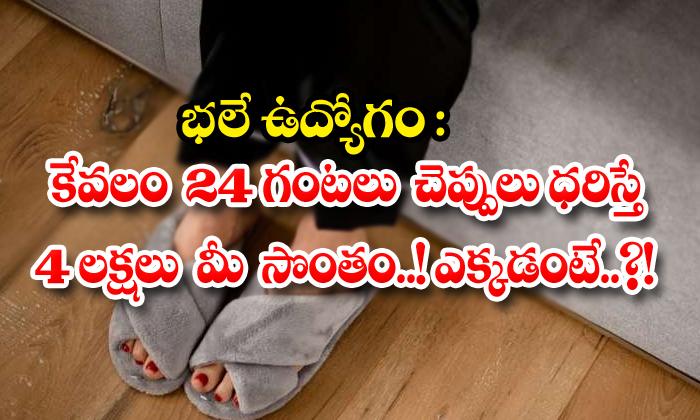 భలే ఉద్యోగం: కేవలం 24 గంటలు చెప్పులు ధరిస్తే 4 లక్షలు మీ సొంతం..! ఎక్కడంటే..?!