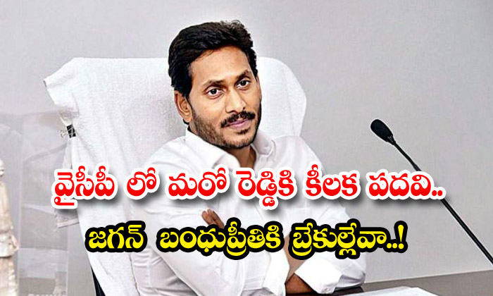 TeluguStop.com - Another Key Position For Another Reddy In Ycp No Breaks For Jagan Kinship
