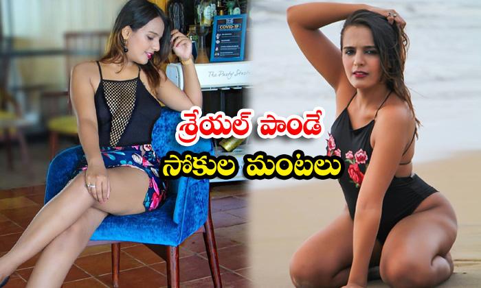 Social media influencer model shreyal pandey hot clicks-శ్రేయల్ పాండే సోకుల మంటలు