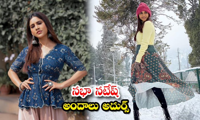 South Indian actress Nabha Natesh cute candid poses-నభా నటేష్ అందాలు అదుర్స్