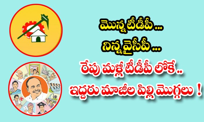 TeluguStop.com - Tdp Tomorrow Ycp Yesterday Tdp Again Tomorrow Two Former Cat Buds
