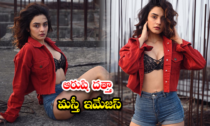 Tollywood model and actress Aarushi Dutta trendy poses-ఆరుషి దత్తా మస్తీ ఇమేజస్