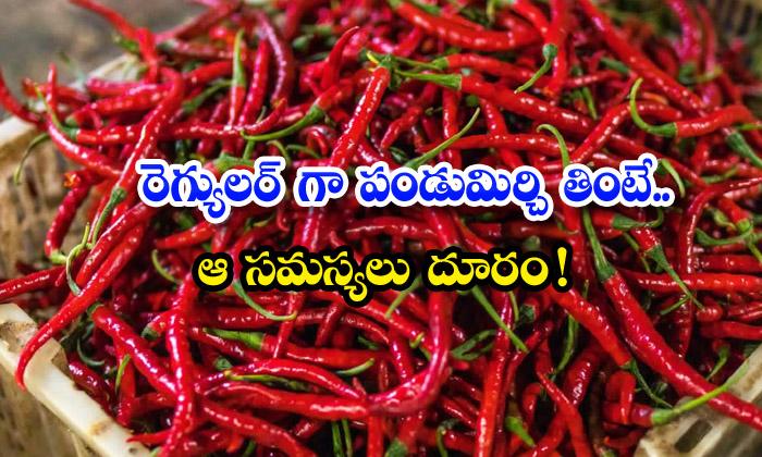 TeluguStop.com - Amazing Health Benefits Of Red Chilli