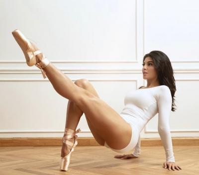 TeluguStop.com - Jacqueline Fernandez Channels Her Inner Ballerina-Cinema/ShowBiz News-Telugu Tollywood Photo Image